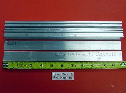 """2/"""" x 4/"""" Aluminum 6061 Flat Bar Mill Stock 18/"""" Long"""