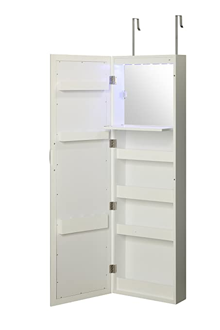Delicieux Abington Lane Over The Door Makeup Organizer   Wall Mounted Beauty Armoire  With Stowaway Mirror And