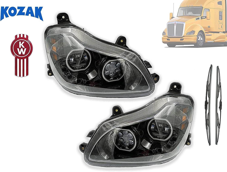 -Black 2013 Kenworth T680 DAYCAB Side Roof mount spotlight LED Passenger side WITH install kit 6 inch