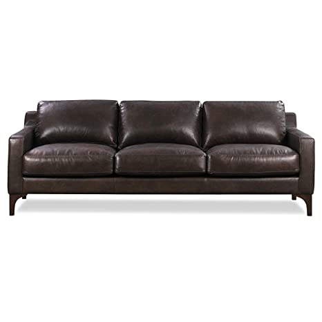 Amazon.com: Poly and Bark Sorrento Leather Modern Sofa in ...