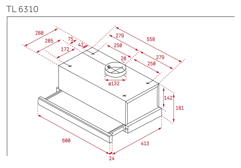 1aed7b9b150 Teka 40474250 TL 6310 - Campana extraíble, 332 m³/h, acero inoxidable:  Amazon.es: Grandes electrodomésticos