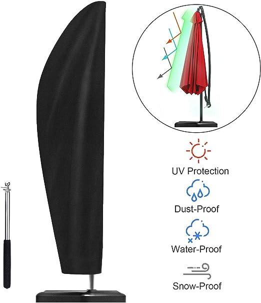 UKEER Funda Protectora para Sombrilla 265cm Funda para sombrilla Funda Protectora para Parasol Impermeable Funda para Parasol con Varilla telescópica: Amazon.es: Jardín