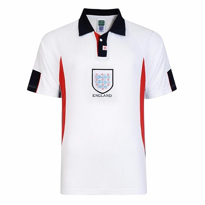 England FA - Camiseta Oficial FA Mundial de Fútbol 1998 para Hombre (Pequeña (S