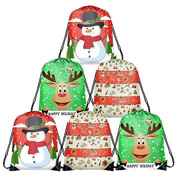 TUPARKA 6 Unids Navidad Bolsas con Cordón Santa Cadena ...