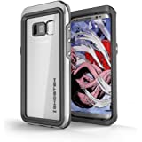 Ghostek Galaxy S8 Waterproof Case, Atomic 3 for Samsung Galaxy S8 Underwater Cover Shockproof Dirtproof Shock Absorption Premium Aluminum Rubber Adventure Supports Wireless Charging Swimming (Silver)