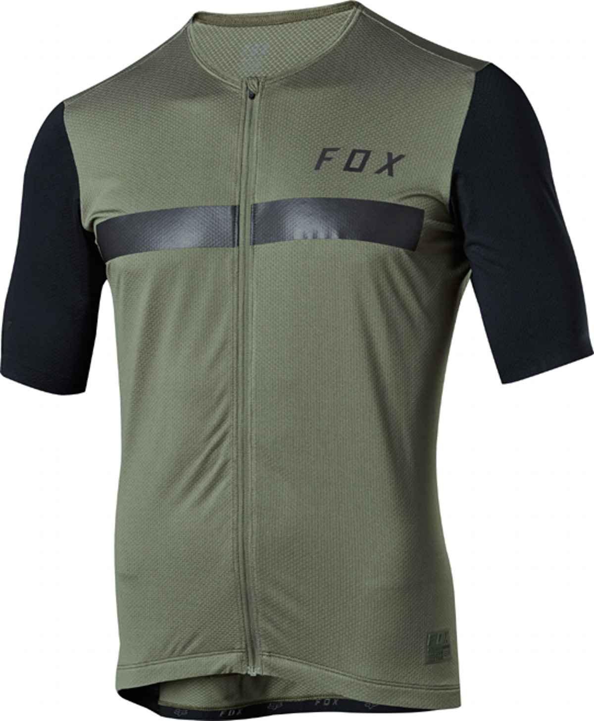 Fox Full Zip Jersey Kurzarm Ascent Dark Fatigue