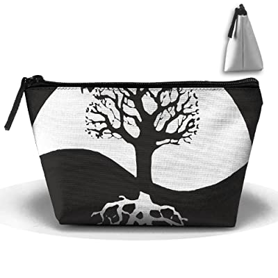 WQWSVX Bonsai Tree Circle Root Fashion Travel Bag Trapezoid: Home & Kitchen