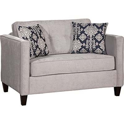 Sleeper Loveseat Reversible Cushions Mattress Does Pull Out of this Sleeper Loveseat After Removing the Bottom Cushions Modern Style