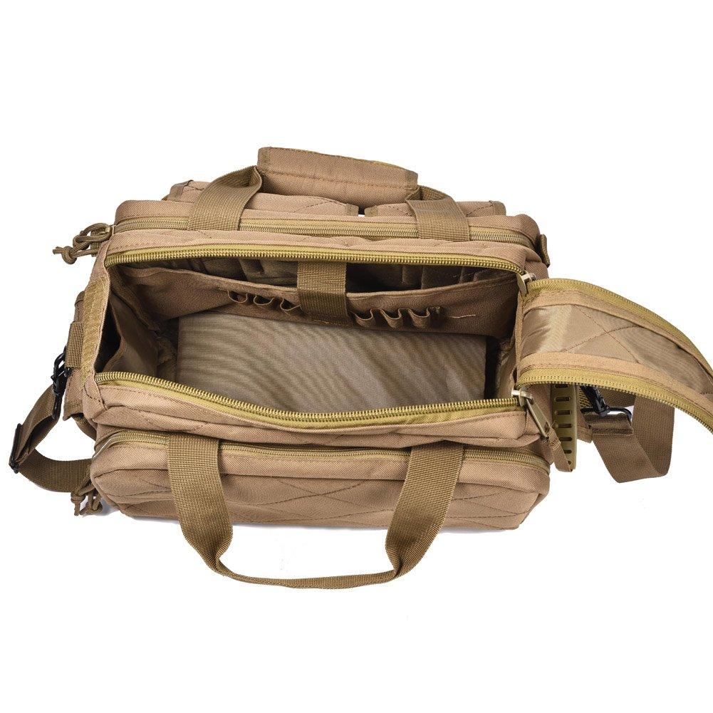 REEBOW TACTICAL Tactical Gun Range Bag Deluxe Pistol Shooting Range Duffle Bags Black by REEBOW TACTICAL (Image #5)