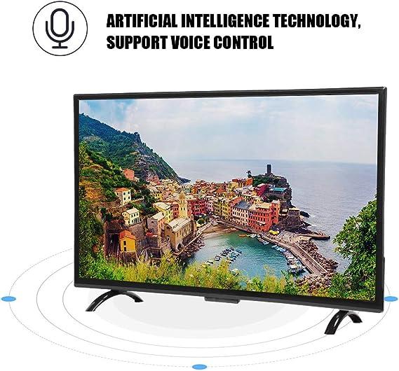 Pomya Televisor LCD Inteligente Ultra HD, televisor Curvo de Pantalla Grande de 43 Pulgadas, televisor Inteligente Multifuncional HDMI Smart 3000R Curvature TV versión 1920x1200, 110V(EU): Amazon.es: Electrónica