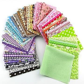 Misscrafts 25pcs Assorted Floral Cotton Fabric Precut Square Quarter Bundles Quilting Sewing Craft DIY 30cm*30cm