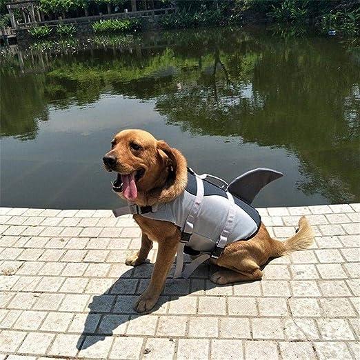 OOFAYWFD Perro Life Jacket Gran Mascota Flotador Abrigo Perros Salvavidas Chaleco De Seguridad Tiburón Tamaño S M L,S: Amazon.es: Hogar