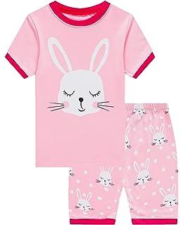 Babyroom Girls Short Pajamas Toddler Kids Pjs 100/% Cotton Sleepwear Summer Clothes Shirts