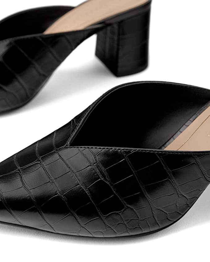cc0feb346c955 Amazon.com: Zara Women Animal print v vamp mid-heel mules 3225/001 ...