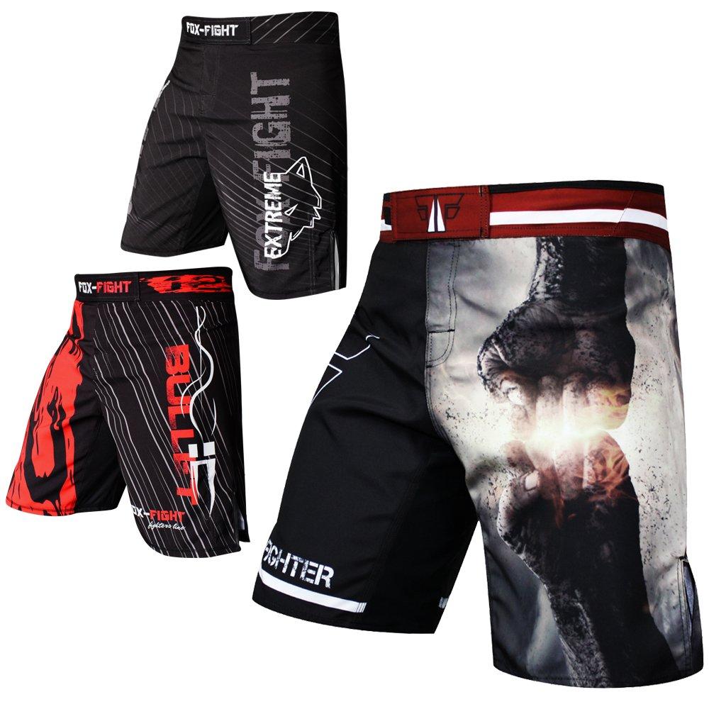 Fist Punch MMA Fight Pantaloni Short Muay Thai Kick Boxing UFC Lotta Sport Boxe Training Fox-Fight