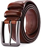 Mens Belt - Autolock Genuine Leather Dress Belt - Classic Casual Belt for Men in Gift Box