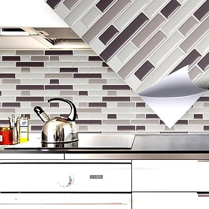 Grandora Kit De 4 Mosaico 3D Adhesivo de azulejo W5203 autoadhesiva ...