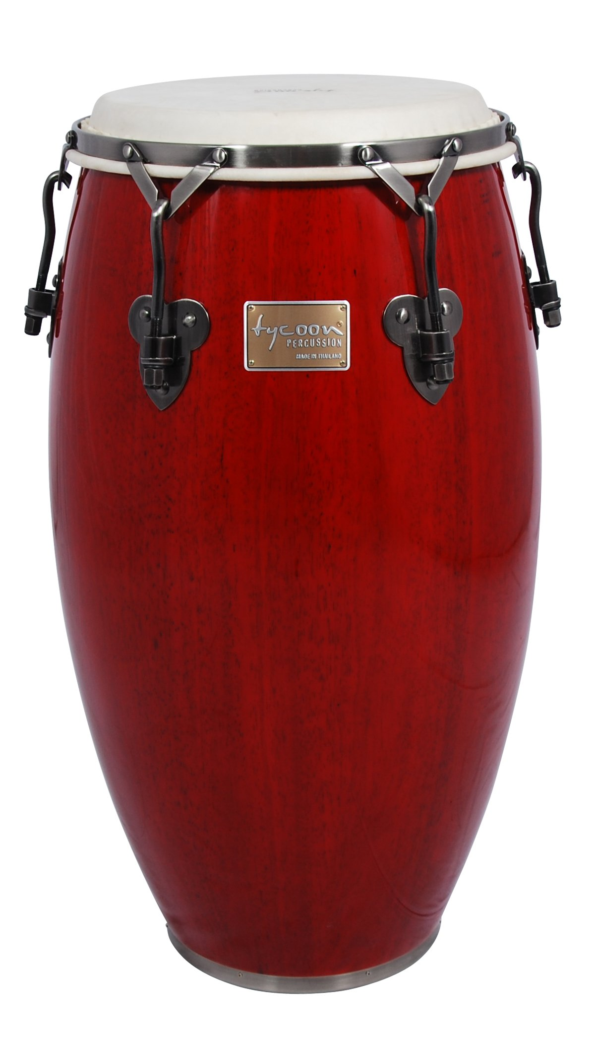 Tycoon Percussion 12 1/2 Inch Signature Classic Series Red Tumba With Single Stand by Tycoon Percussion