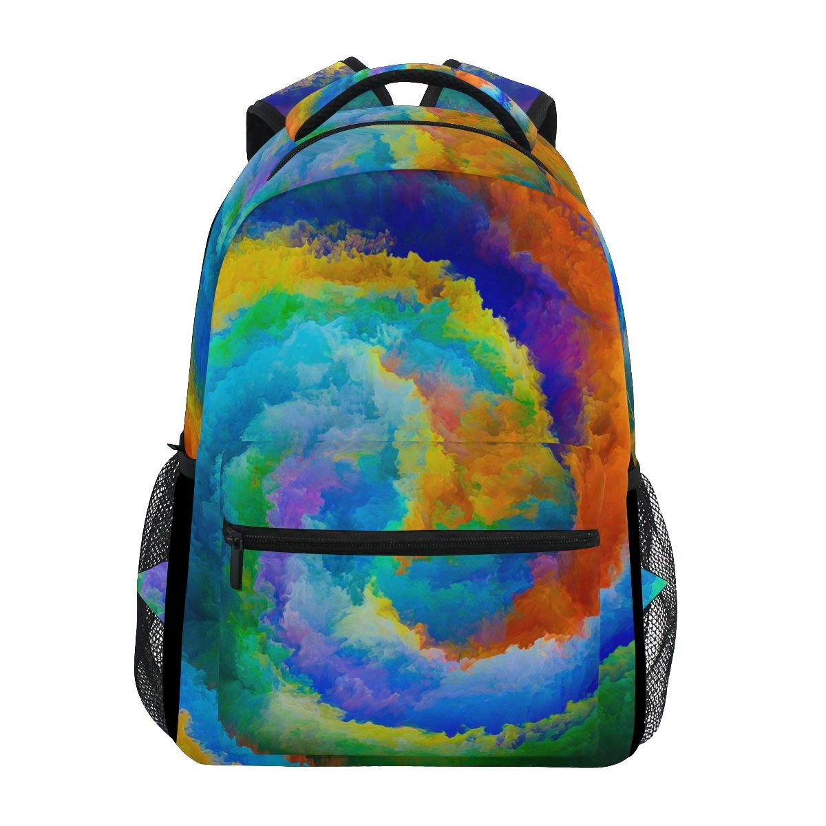 ahomyカラフルな星雲スペースバックパックガールズカレッジスクールバッグレディースカジュアル旅行用デイパック   B07FTGT44W