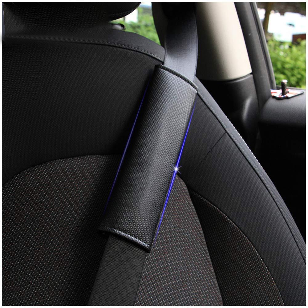 DBL 2 pcs en Fibre de Carbone Ceinture de s/écurit/é Couverture Pad /épaule Coussin pour Volvo S40 S60 S60L S80 S80L S90 V40 V60 V90 C30 XC60 XC70 XC90 Bleu