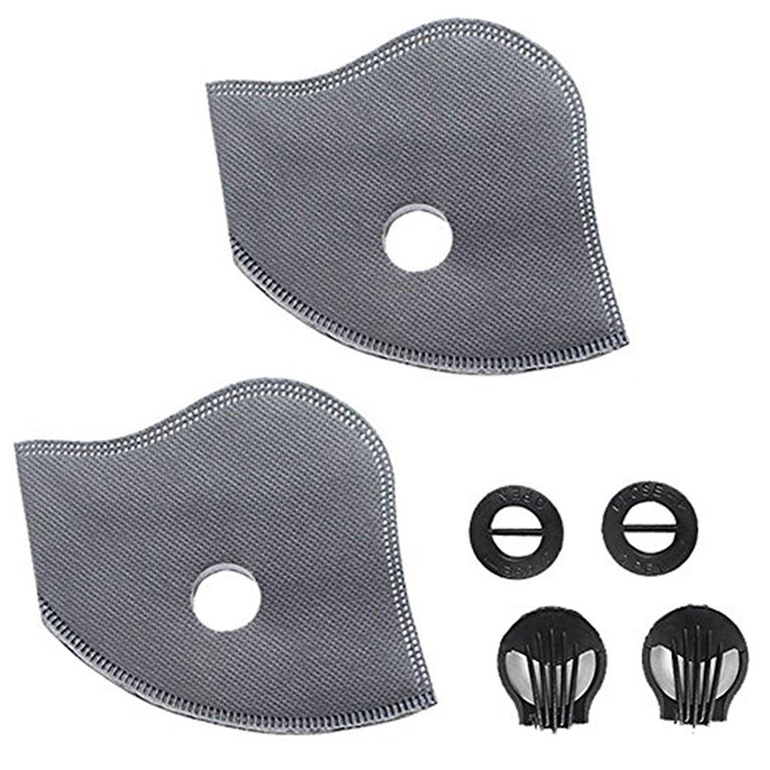 à la poussière Masque, Masque de poussière de charbon actif avec Velcro réglable anti PM 2,5 Pollen Allergy lavable Cyclisme Masque pour la course à pied Ski Nettoyage de la maison jardinage activités de plein air