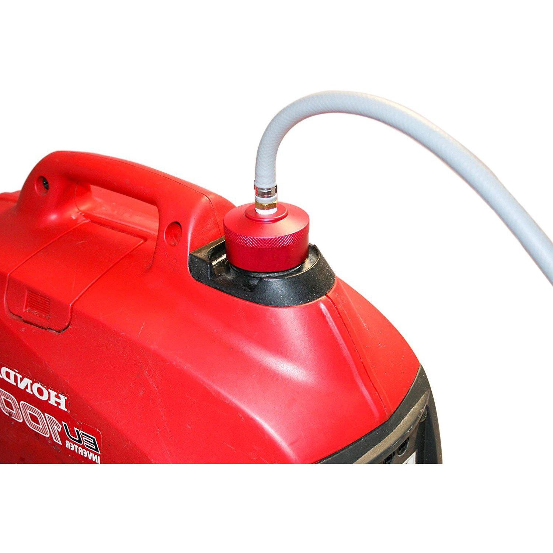 One Gas Cap, RED E-cowlboy Red Aluminum Extended Run Gas Cap for Honda Generator EU1000i EU2000i Fits 1//4NPT Line