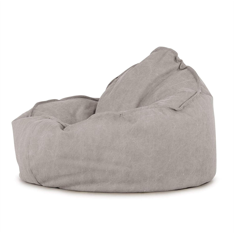 Lounge Pug Mini Mammoth Pewter Sitzsack Sessel Stonewashed