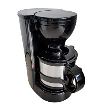Cafetera con taza térmica, incluye soporte de pared, filtro permanente, 24 V/