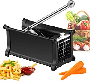 French Fry Cutter for Air Fryer, votron Potato Cutter Stainless Steel Potato Slicer for Fries with 1/2-Inch Blade Great for Carrots Cucumbers