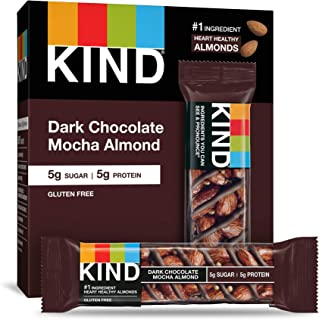 product image for KIND Bars, Dark Chocolate Mocha Almond, Gluten Free, Low Sugar, 1.4 Ounce Bars, 60 Count