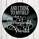 What a Wonderful World song lyric art on a Vinyl