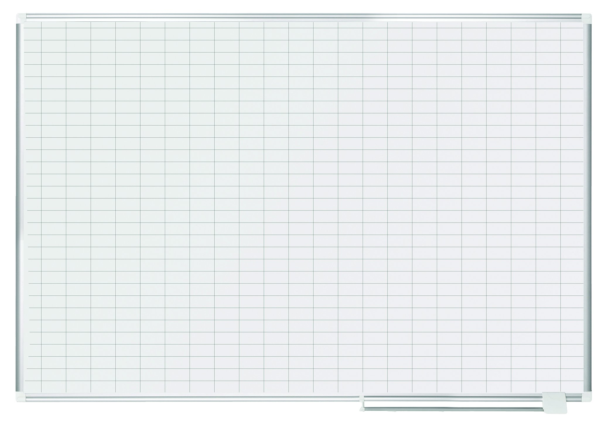 MasterVision Planning Board Magnetic Dry Erase, 1'' x 2'' Grid Planner with Aluminum Frame, 48'' x 72'' by MasterVision