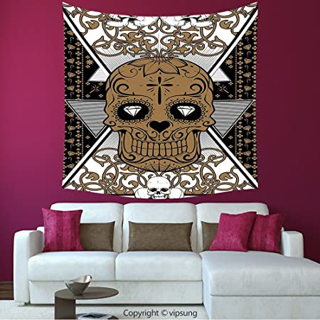 House Decor Square Tapestry Tattoo Decor Wise Old And Brave Viking