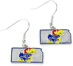 Aminco NCAA Kansas Jayhawks Home State Earrings