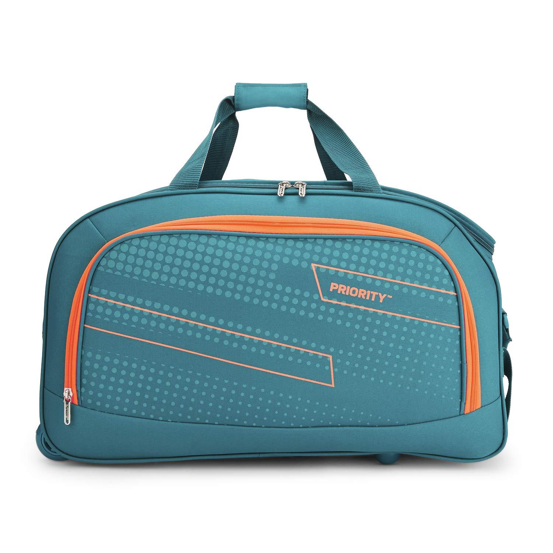 Priority ARC 56 cms Aqua Blue 2 Wheel Duffle Travel Luggage