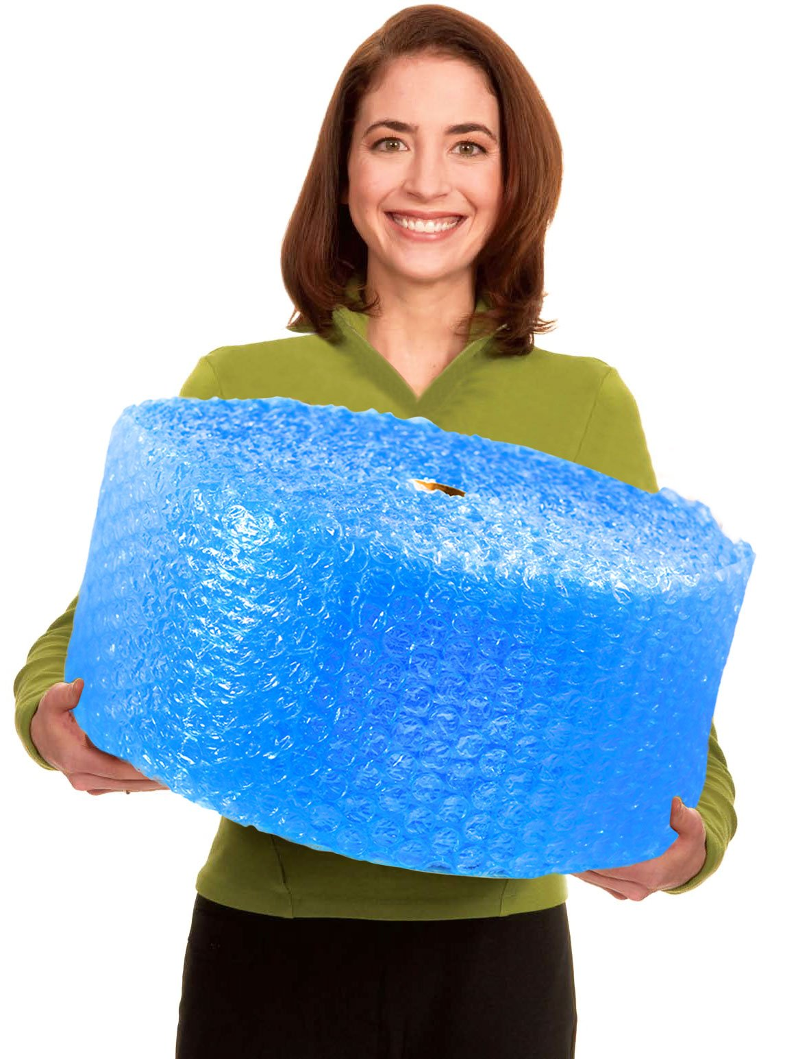 EcoBox Bubble Cushion Wrap 12-Inch Wide x 125-Feet Long, with 1/2-Inch Large Bubbles, by EcoBox