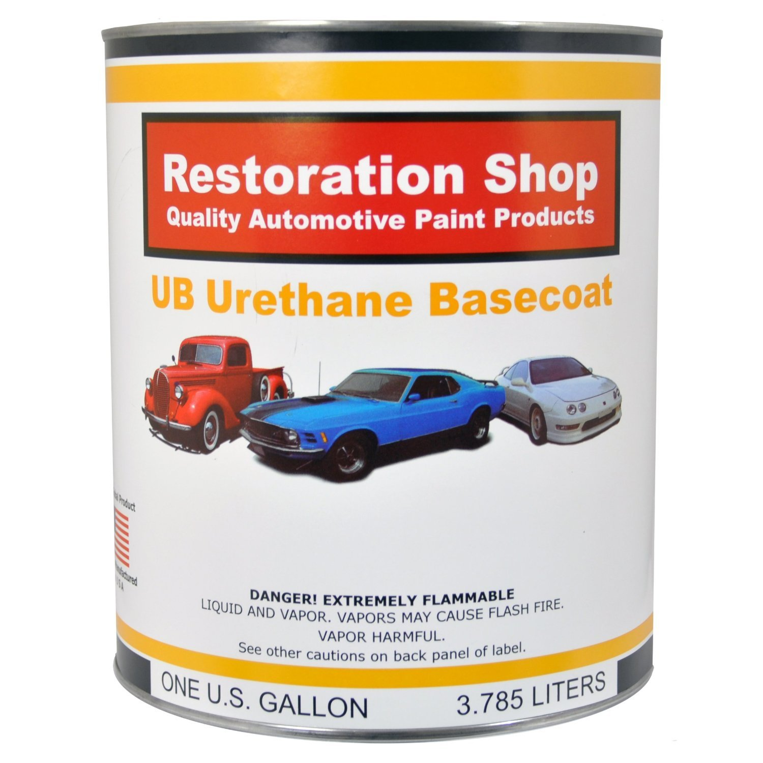 Restoration Shop - Gallon ONLY - PERFORMANCE BRIGHT WHITE Urethane Basecoat Car Auto Paint