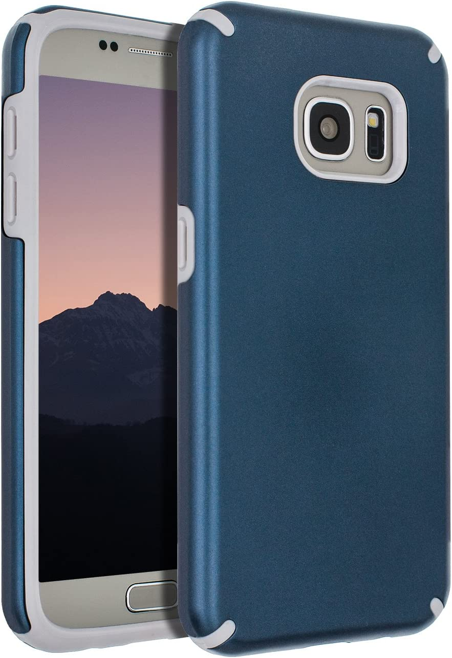 SENON Samsung Galaxy S7 Case,Galaxy S7 Case, Slim-fit Shockproof Anti-Scratch Anti-Fingerprint Protective Case Cover for Samsung Galaxy S7,Navy