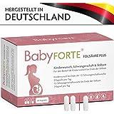 BabyFORTE FolsäurePlus 60 Kapseln 400/800 mcg Folsäure, Zink, Eisen & Jod Vitamine Kinderwunsch, Schwangerschaft, Stillzeit Vegan