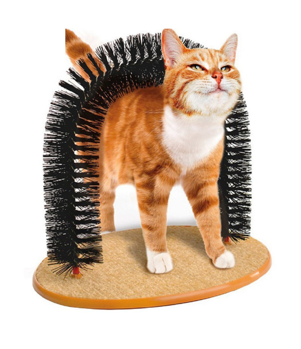 HOT Sale! 2017 New Arrival Arch Pet Cat Self Groomer With Round Fleece Base Cat Toy Brush Toys For Pets Scratching Devices