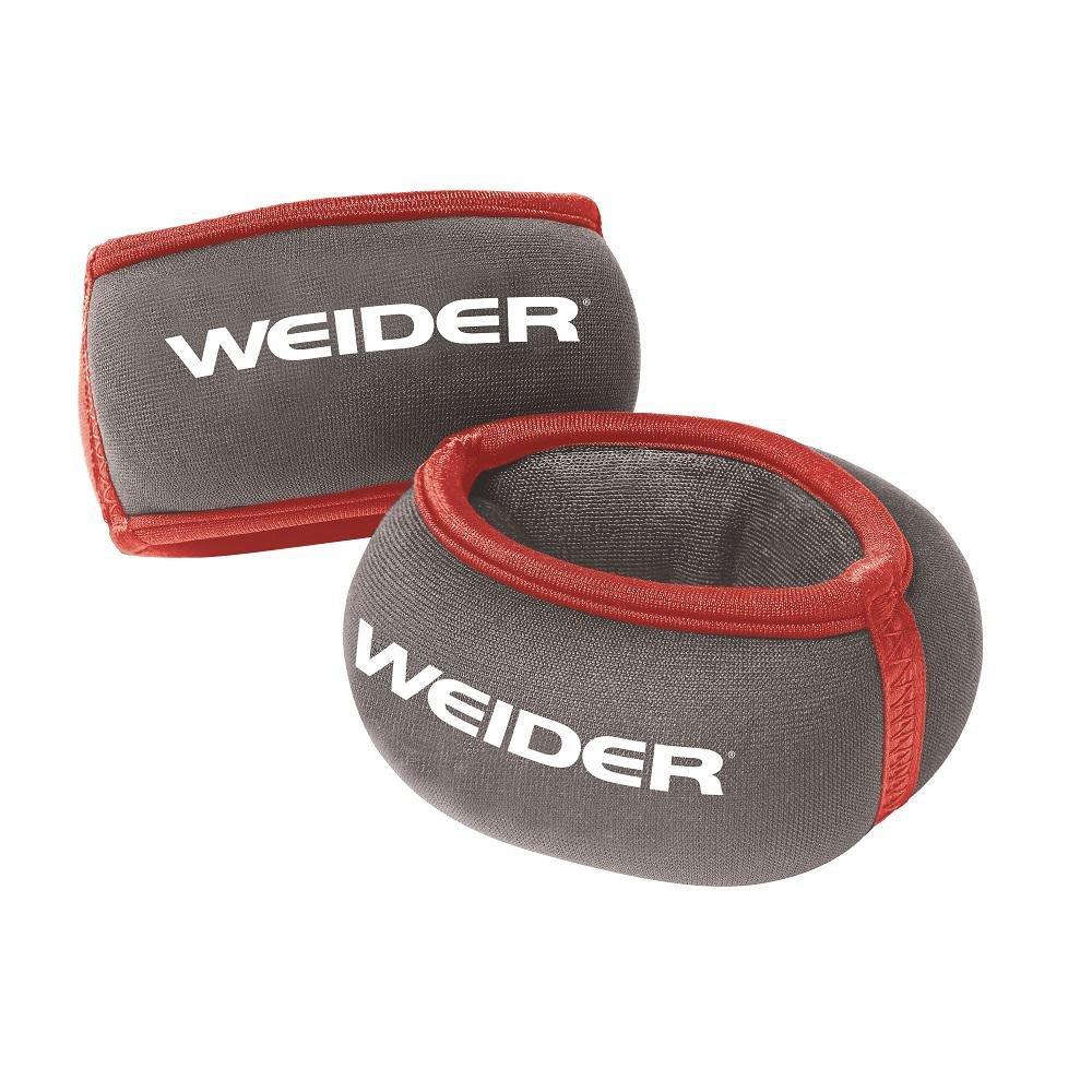 Weider Soft, Neoprene Fabric 2 lb. (1-1 lb) Wrist Weight Set by Weider