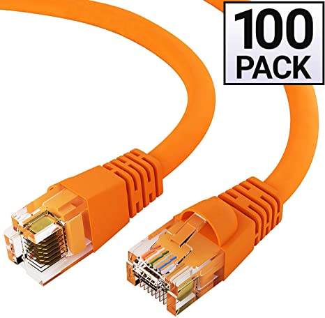 75/'Ft LAN Net Cat6a RJ45 Ethernet Network Cable Cord 10 Gigabit Copper Orange