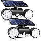 Outdoor Solar Lights,YUJENY 30 LEDSolar Security Light with Motion Sensor Dual Head Spotlights IP65 Waterproof 360…
