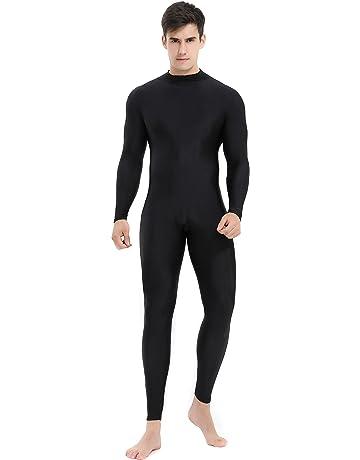 3bb9b0ef91 Speerise Mens Turtleneck Spandex Long Sleeve Unitard Bodysuit Dancewear