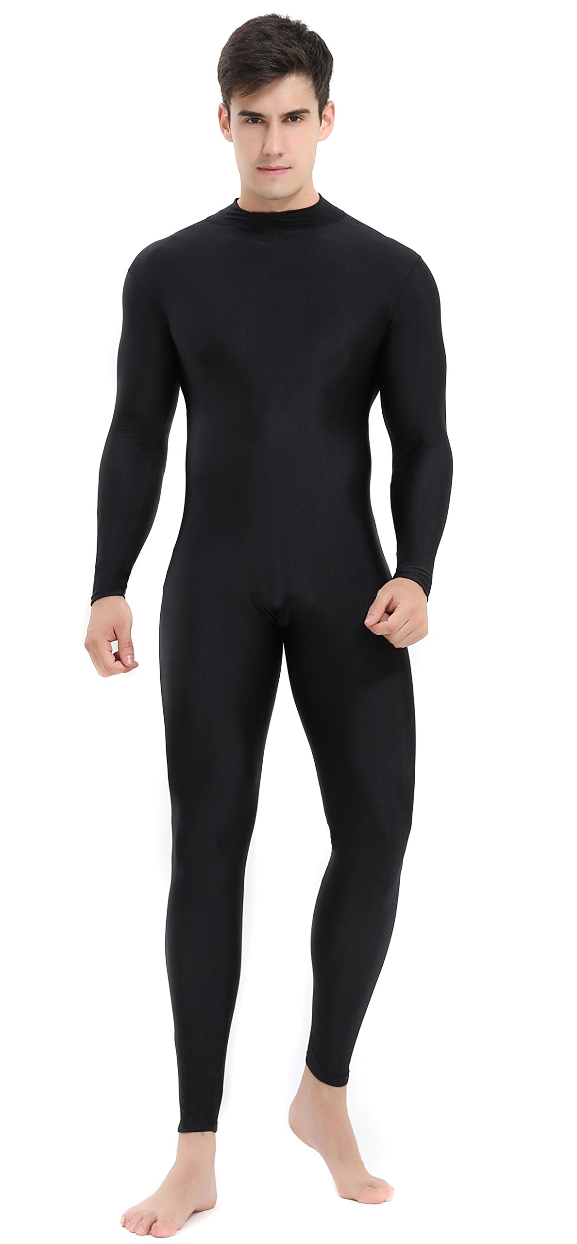 - 71sDjre M6L - Speerise Mens Turtleneck Spandex Long Sleeve Unitard Bodysuit Dancewear