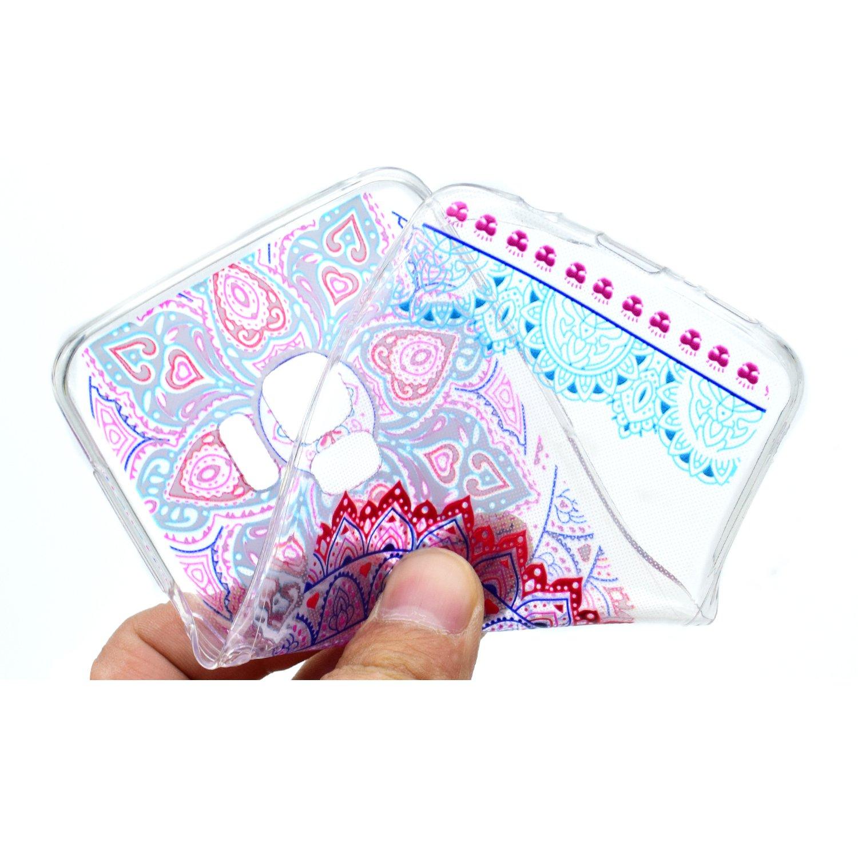 Grandoin Galaxy S9 HandyH/ülle Blatt S/ü/ßes Muster Transparent Ultra D/ünn Weiche TPU Silikon Schutz Handy H/ülle Handytasche HandyH/ülle Etui Schale Schutzh/ülle Case Cover f/ür Samsung Galaxy S9