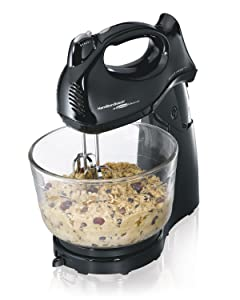 Hamilton Beach 64698 Power Deluxe Hand/Stand Mixer Black (1)