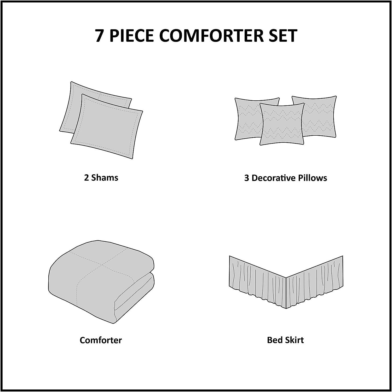 Madison Park MP10-515 Bella 7 Piece Comforter Set