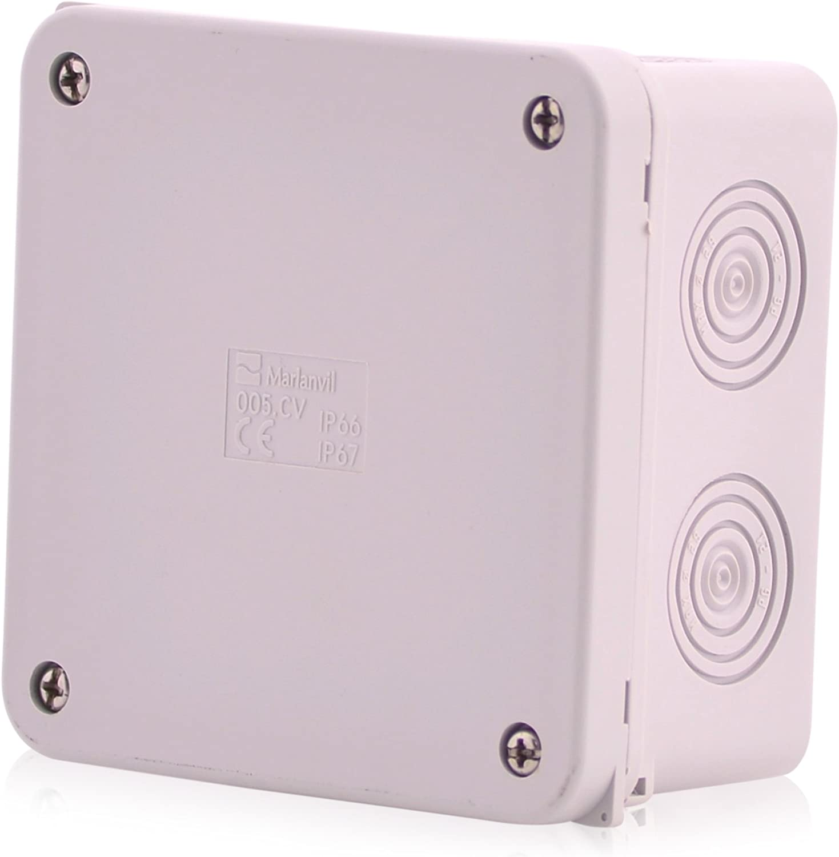 Cajas de empalme de superficie Caja de empalme de cable de 12 polos | IP67 | 100x100x50mm | Caja de distribución, caja de empalme, de superficie Caja de empalme impermeable para exteriores