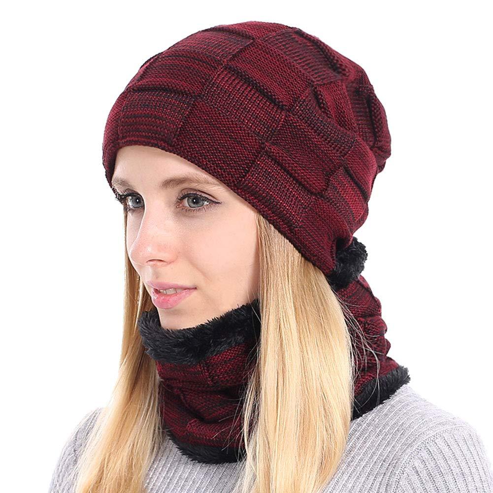 73358bd380686 BOYOU Unisex Hombres Mujeres Invierno Cálido Sombrero de Punto Al Aire  Libre de Felpa Engrosamiento Gorro de Punto Sombrero de Esquí para el  Invierno